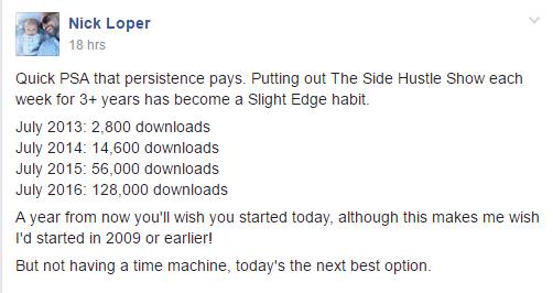 Slight Edge Habits Nick Loper