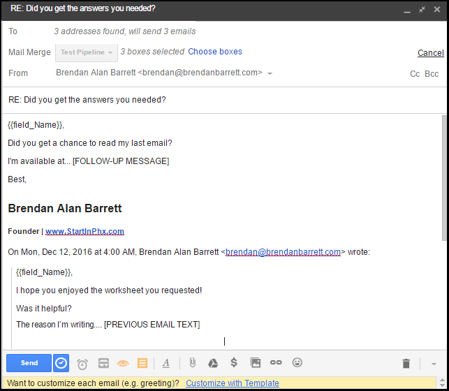 Automating Follow Up Emails